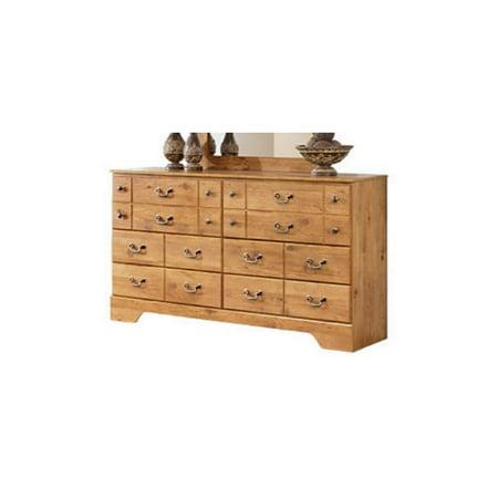 Ashley Bittersweet 6 Drawer Wood Double Dresser In Light Brown