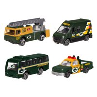 Forever Collectibles - 4 Pack Die Cast Cars, Green Bay Packers