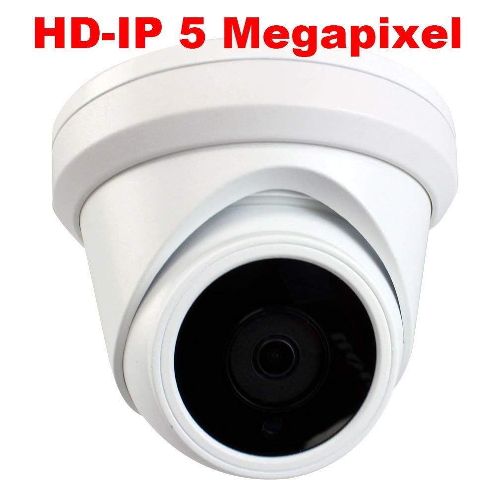 GW Security 5MP Super HD 1920P H.265 PoE Day & Night Vision Weatherproof Security IP Dome Camera, Power Over Ethernet