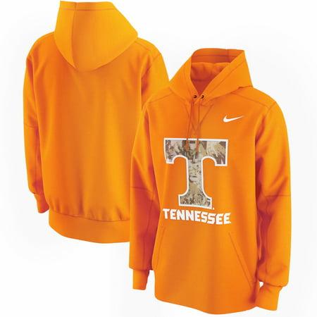 Tennessee Volunteers Crew Sweatshirt - Tennessee Volunteers Nike Team Lockup Camo Circuit Pullover Hoodie - Tennessee Orange