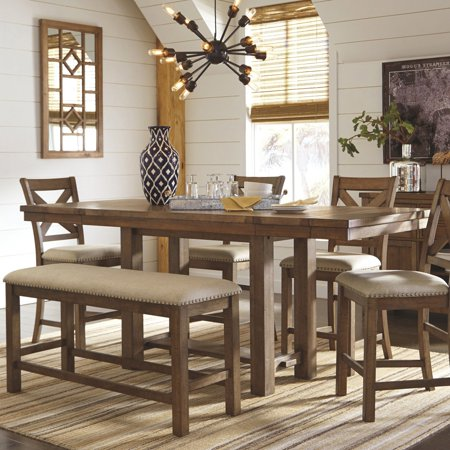 Signature Design by Ashley Moriville Rectangular Extension Counter Height Dining Table ()