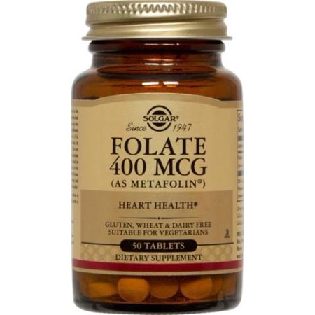 Folate 400 mcg (as Metafolin) Solgar 50 Tabs