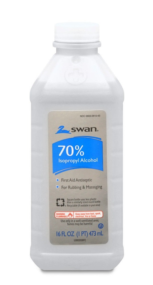 16oz Bottle 70% Isopropyl Alcohol by Swan by