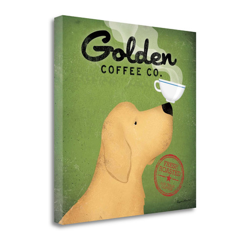 Tangletown Fine Art 'Golden Coffee Co.' by Ryan Fowler Graphic Art on Wrapped Canvas