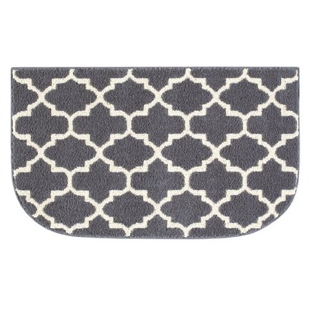 Better homes and gardens gray trellis kitchen rug for Better home and garden rugs