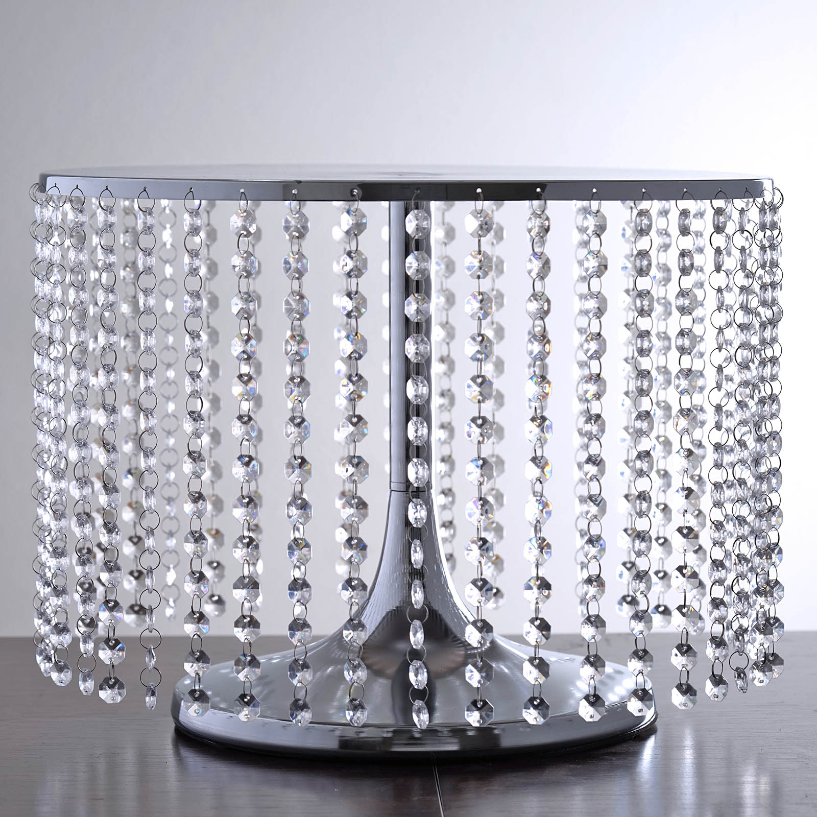 Efavormart Silver Breathtaking Crystal Pendants Metal Chandelier Wedding Birthday Party Dessert Cake Pedestal Display... by