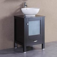 Belvedere 22 in. Modern Freestanding Single Vessel Bathroom Vanity