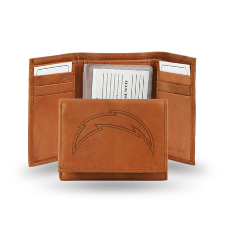 San Diego Chargers NFL Tri-Fold Wallet (Pecan (San Diego Chargers Money Clip)