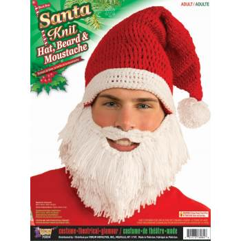 SANTA KNIT HAT, BEARD & MOUSTACHE for $<!---->