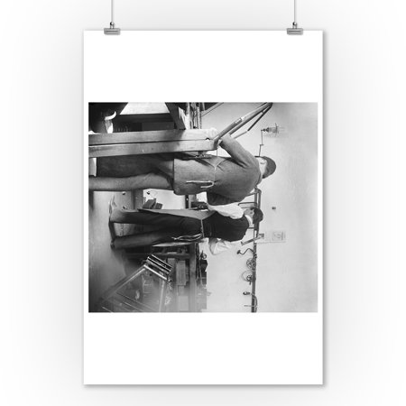 Orville And Friend At Wright Bicycle Shop Photograph  9X12 Art Print  Wall Decor Travel Poster