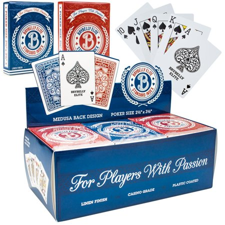 Casino Playing Cards, Elite Medusa Red Blue Set Poker Playing Card,  12pc
