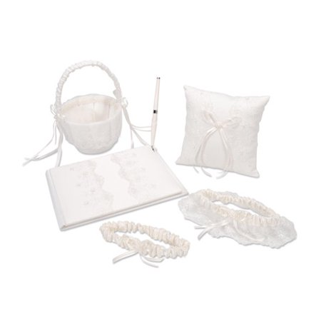 Victoria Lynn Deluxe Guest Book Set - Ivory with Pearl Accent