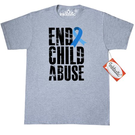 Health Care Clothing (Inktastic End Child Abuse Child Abuse Prevention Month T-Shirt Awareness Speak Up Care Protect The Children Blue Ribbon Mens Adult Clothing Apparel Tees T-shirts)