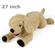 Dog Stuffed Animals, 27 in Plush Dog Toys, Soft Cuddly Golden Retriever, Gifts for Kids, Pets, Beige