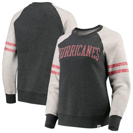 Carolina Hurricanes Fleece (Carolina Hurricanes Fanatics Branded Women's True Classics Fleece Pullover Sweatshirt - Heathered Gray )