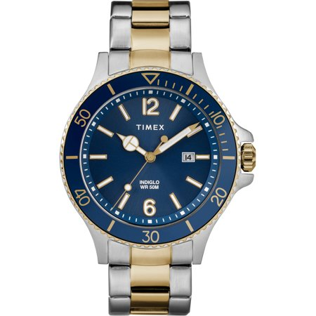 Men's Harborside Two-Tone/Blue Watch, Stainless Steel