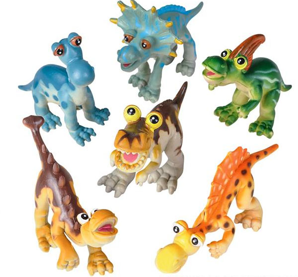 Super Cute Baby Cartoon Dinosaur Set of 6 Toys