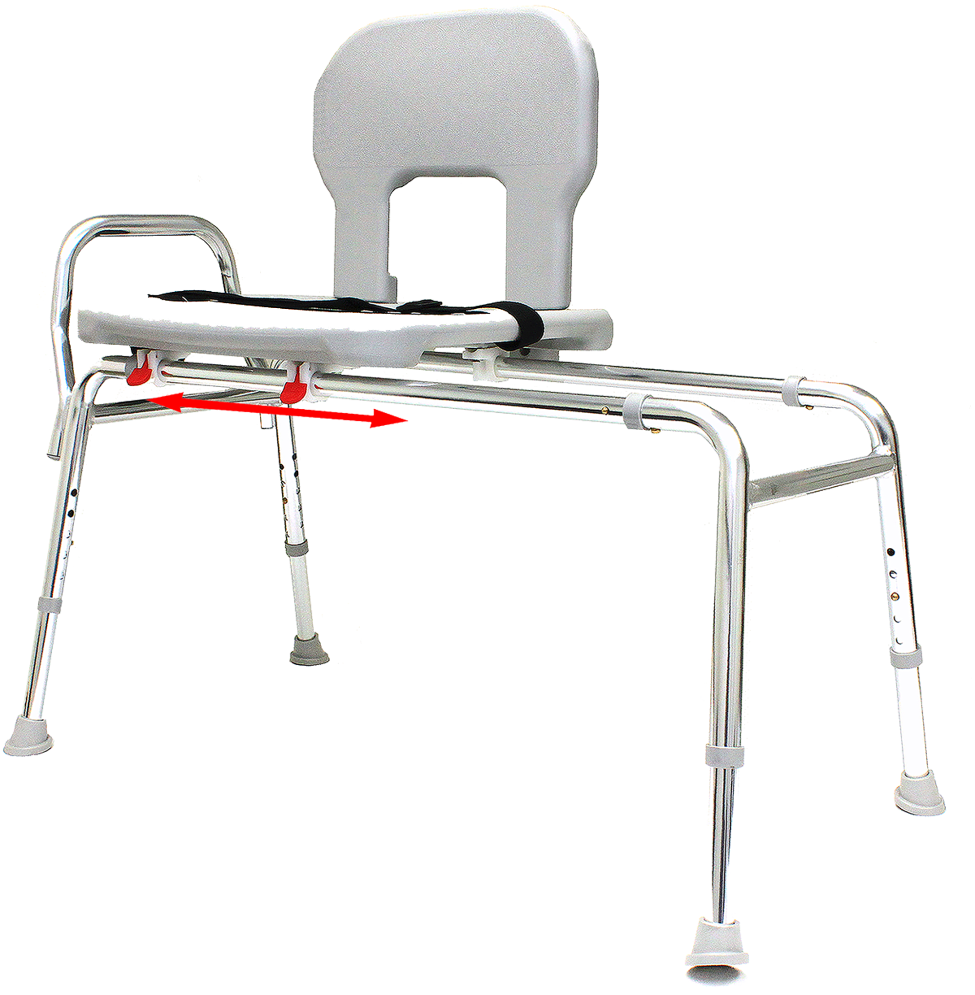 "Bariatric Sliding Bath Transfer Bench (55291) - Extra Long (Base Length: 48"" - 49"") - Heavy-Duty Shower Bathtub Chair - Eagle Health Supplies"