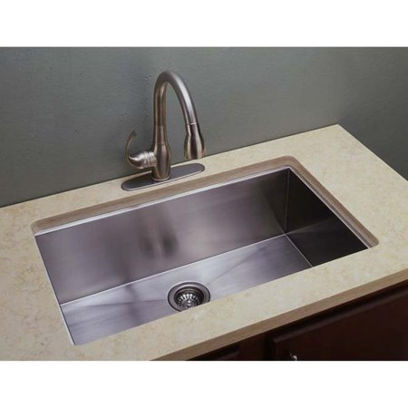 Undermount Fireclay Single Bowl (Empire Industries Everest ES3018 Single Bowl Undermount Stainless Steel Kitchen Sink )