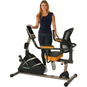 EXERPEUTIC 4000 Magnetic Recumbent Exercise Bike with 12 Workout Programs