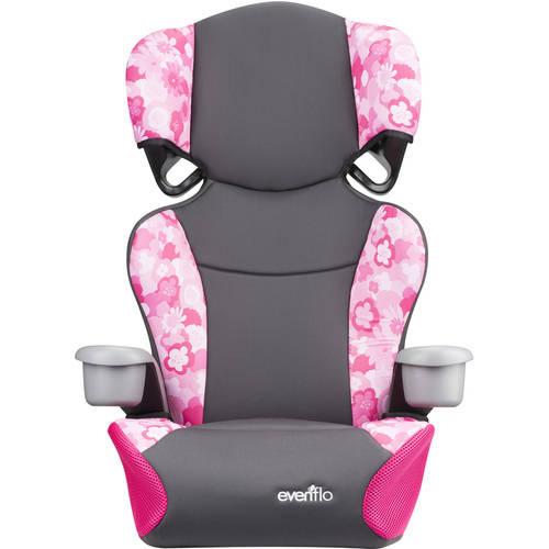 Evenflo Big Kid Sport High Back Booster Seat, Peony Playground by Evenflo