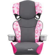 Evenflo Big Kid Sport High Back Booster Car Seat, Peony Playground