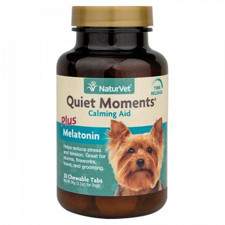 NaturVet Quiet Moments Calming Aid Plus Melatonin Dog