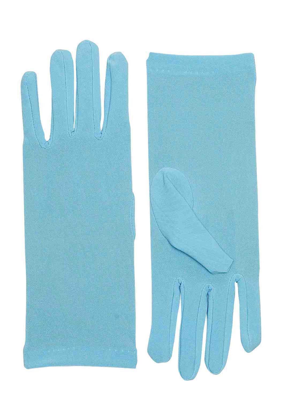 Short Purple Adult Female Costume Dress Gloves
