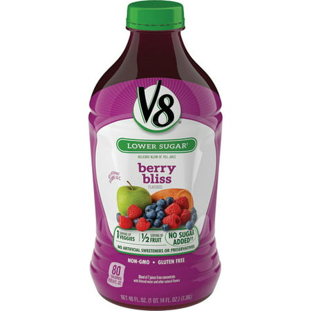 (6 Pack) V8 Berry Bliss, 46 oz.