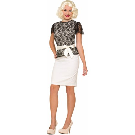 Women's Standard 14-16 Roaring 20s Black Lace Costume Shirt Blouse