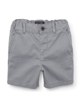 015abf5acb Product Image Flat Front Chino Shorts (Baby Boys   Toddler Boys). Product  Variants Selector. Fin Gray Flax. The Children s Place