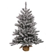 "Vickerman 30"" Flocked Anoka Pine Artificial Christmas Tree, Unlit"