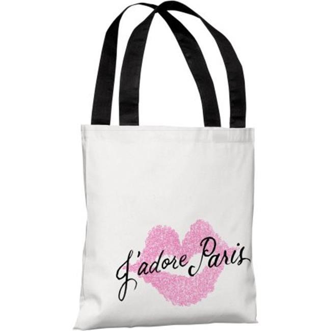 Jadore Paris Polyester Tote Bag by Timree44; Pink One Bella Casa 74445TT18P 18 in