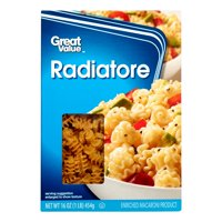 (4 pack) Great Value Radiatore Macaroni, 16 oz