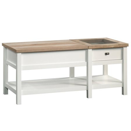 Wondrous Pemberly Row Lift Top Coffee Table In Soft White Ibusinesslaw Wood Chair Design Ideas Ibusinesslaworg
