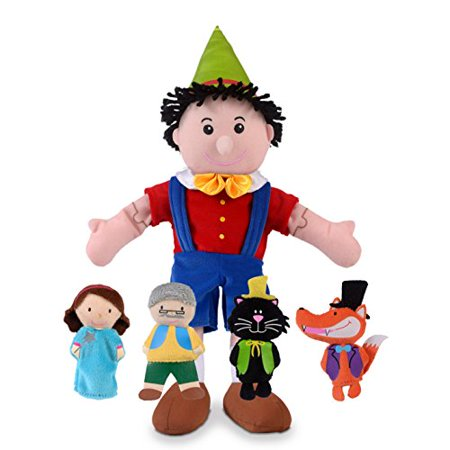 Fiesta Crafts Pinocchio Hand And Finger Puppet Set By Fiesta - image 1 of 1