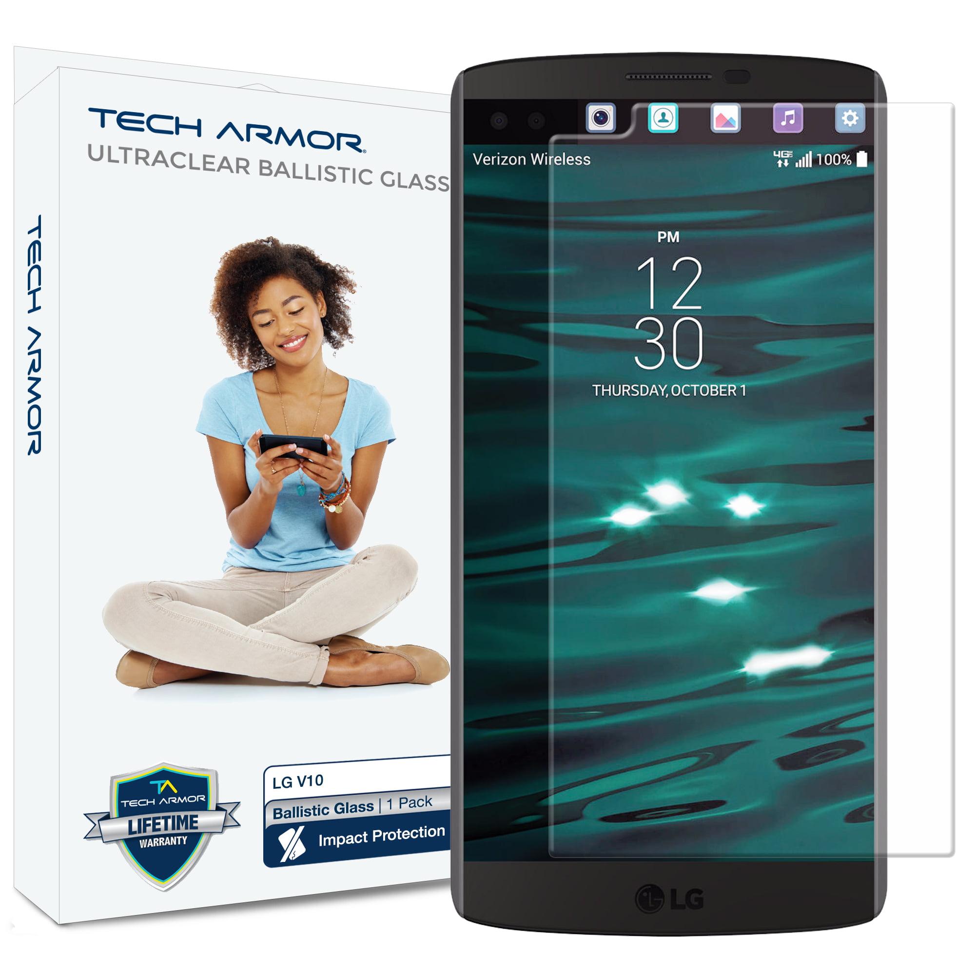 V10 Glass Screen Protector, Tech Armor Premium Ballistic Glass LG V10 Screen Protectors [1]