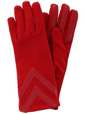 Isotoner  Touchscreen Chevron Winter Gloves with Fleece Lining (Women's)