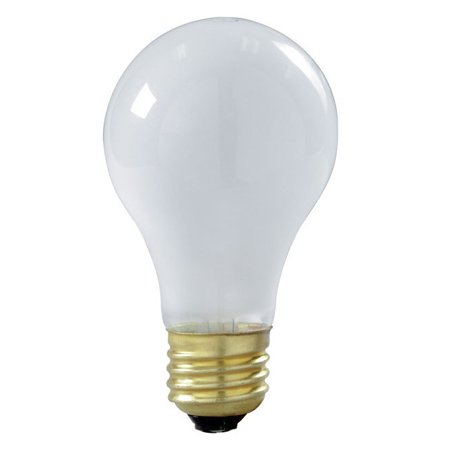 Satco S3927 60W 130V A19 Frost Shatter Proof Incandescent (2 pack)