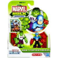 Marvel Hulk Adventures Hulk & Captain America Action Figure Set