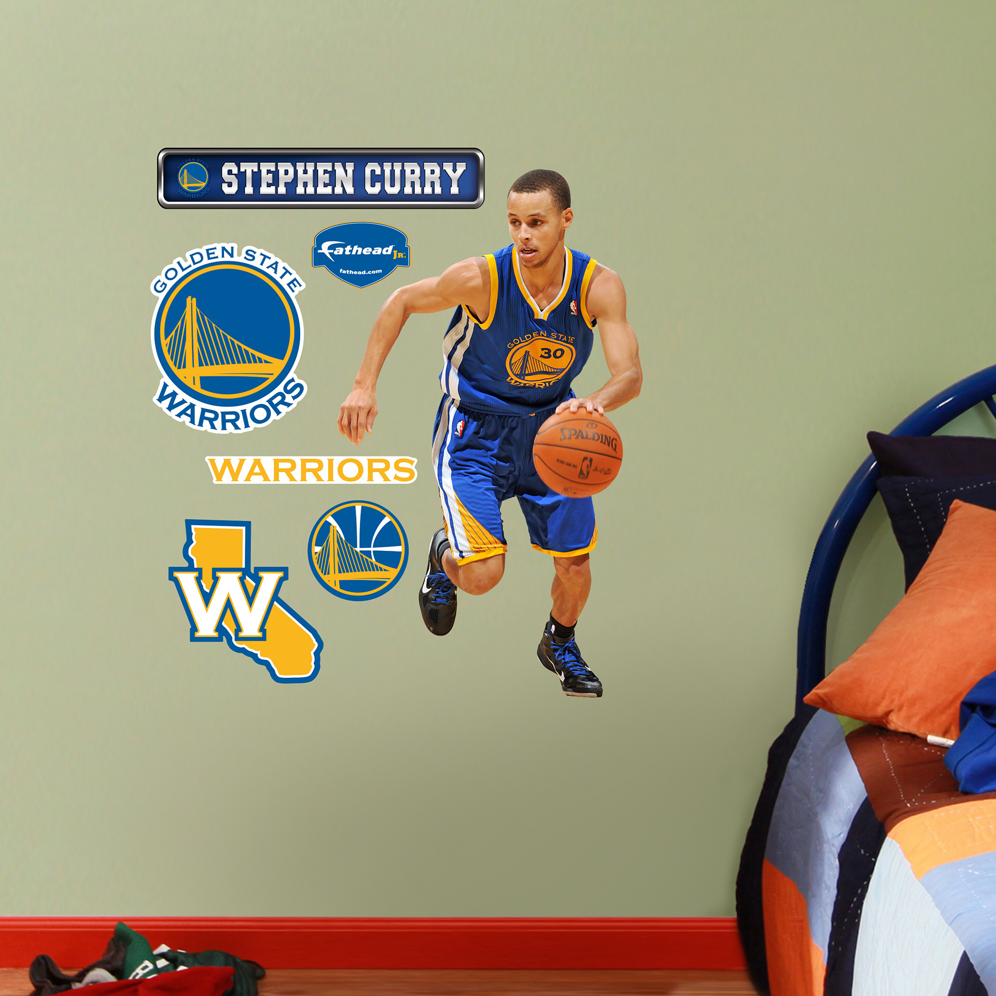 Fathead jr stephen curry wall decals