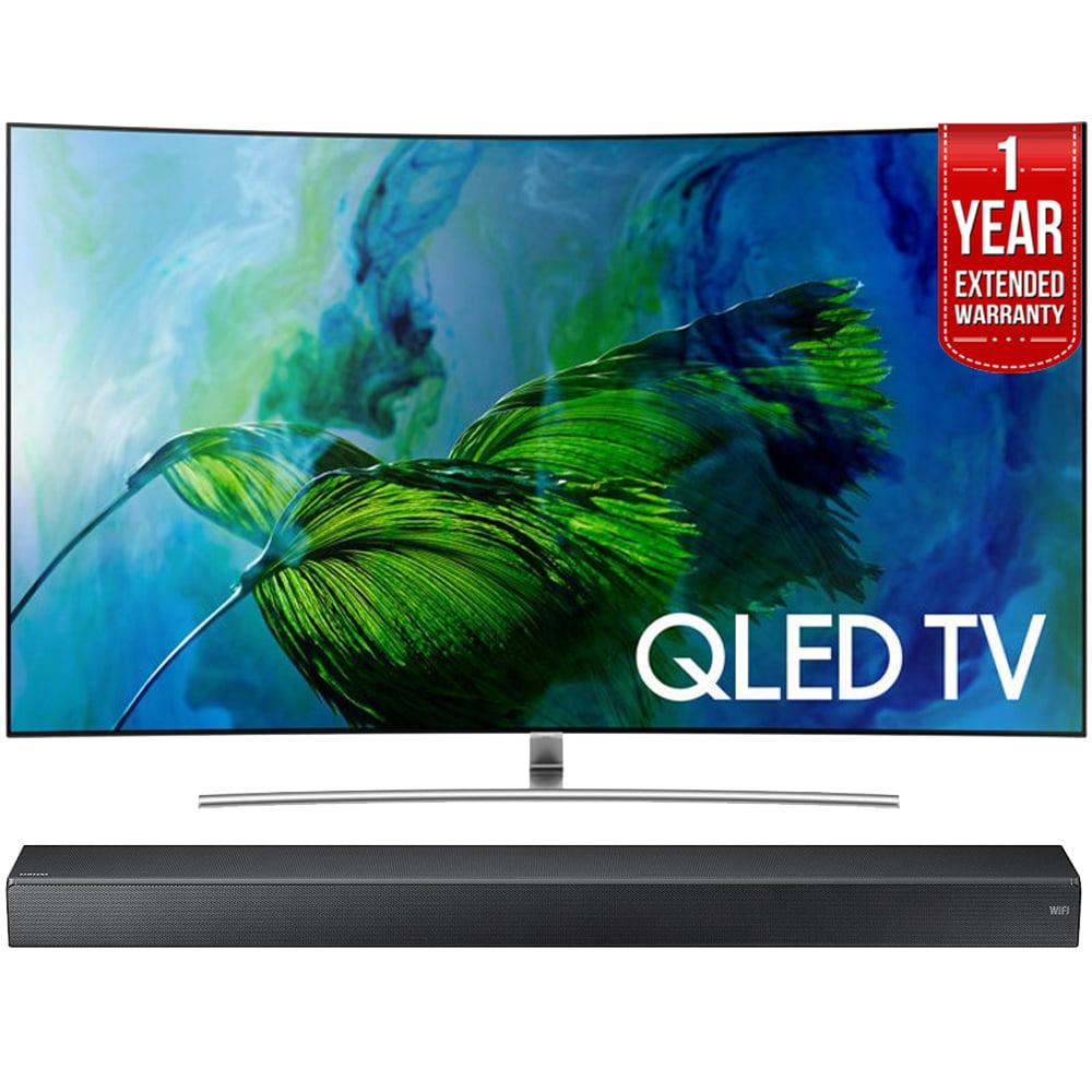 Samsung QN55Q8C Curved 55-Inch 4K Ultra HD Smart QLED TV (2017 Model)+ HW-MS750 Sound+ Premium Soundbar + 1 Year... by Samsung