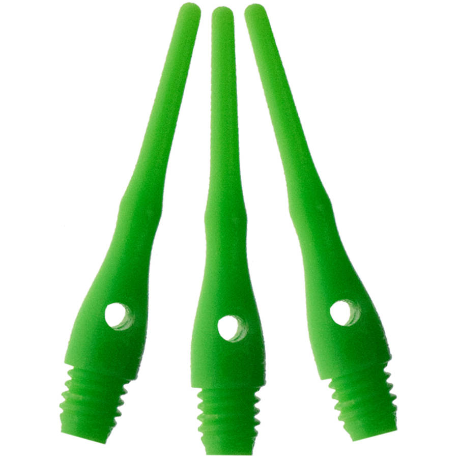 Viper Tufflex III 2BA Green Soft Dart Tips, 1000-Count