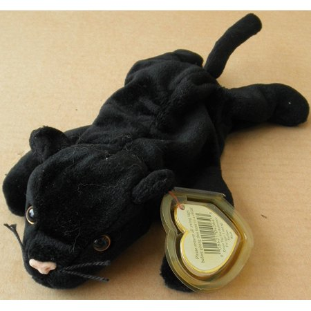 Beanie Baby Stuffed Toy - TY Beanie Babies Velvet the Cat Stuffed Animal Plush Toy - 6 1/2 inches long - Black - Style 4064, By Smartbuy Ship from US