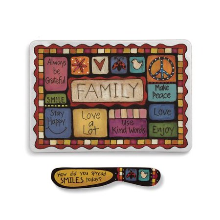Winston Porter Gullo Family Values Melamine Platter