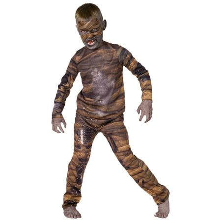 Living Fiction Mummy Rotting Pharaoh Sublimation 2pc Boy Costume, (Mummy's Boy Costume)