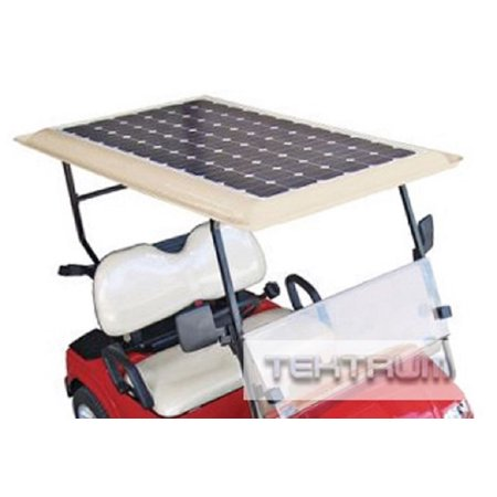 Tektrum Universal 80 watt 80w 48v Solar Panel Battery Charger Kit for Golf Cart ()