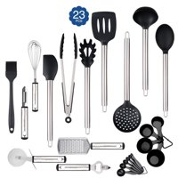 23-Piece Cooking Supplies Kit, Stainless Steel and Nylon Cooking Baking Tool Scratch-free Cookware Set for Kitchen Home Hotel
