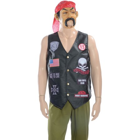 Biker Grab N Go Men's Adult Halloween Costume