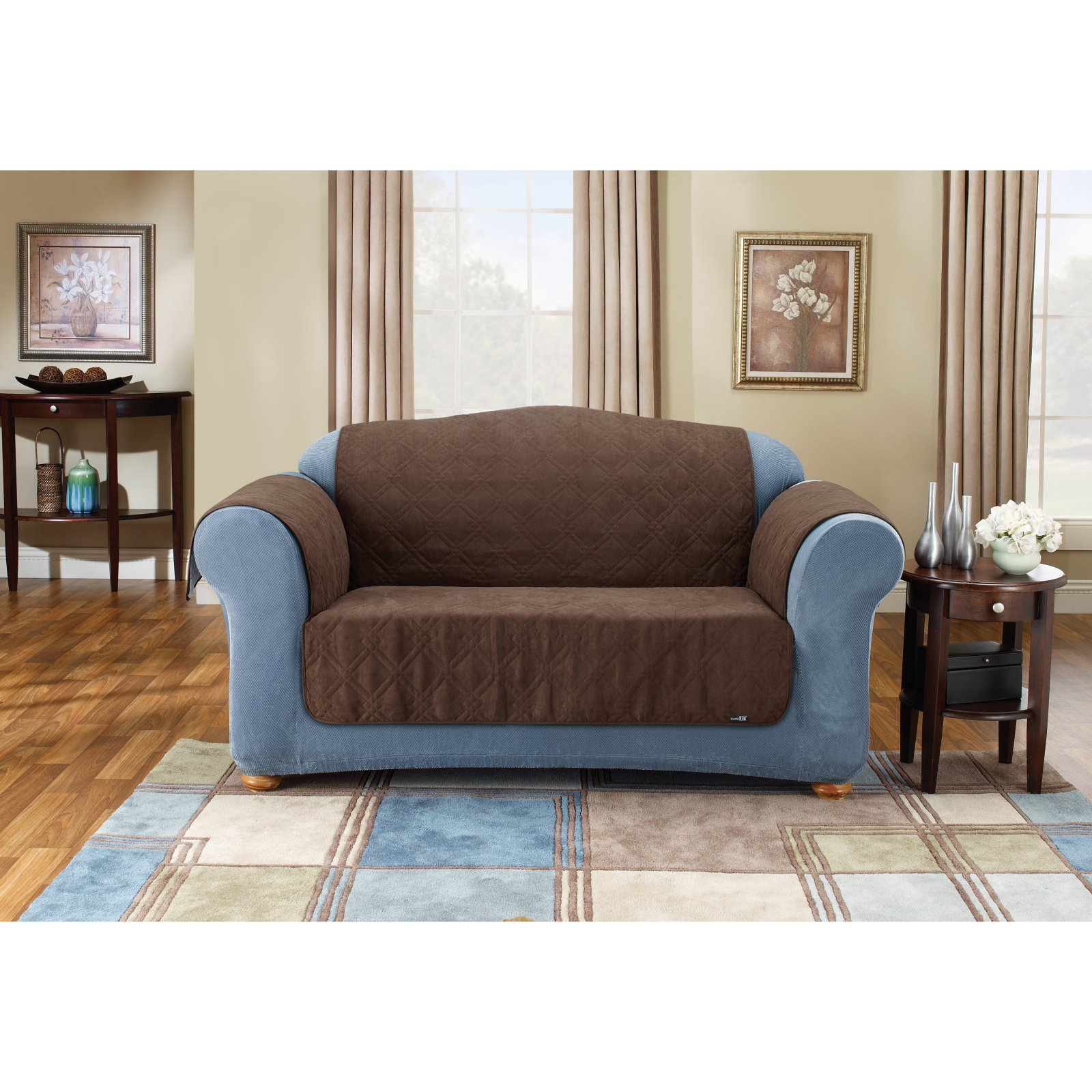 Sure Fit Suede Pet Sofa Couch Cover